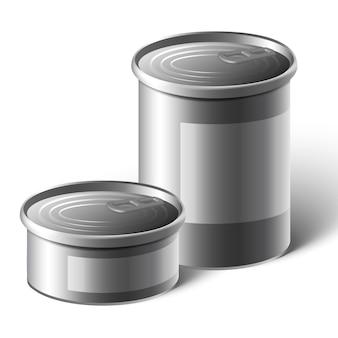 Aliments en conserve en aluminium