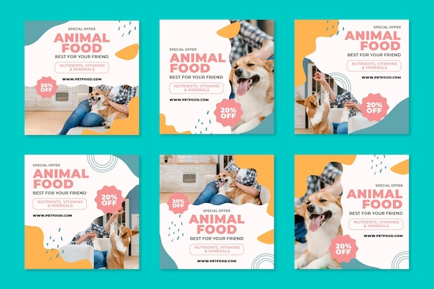 Aliments pour animaux instagram posts