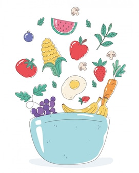 Des aliments sains dans un bol