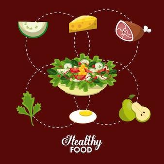 Des aliments sains et frais à manger
