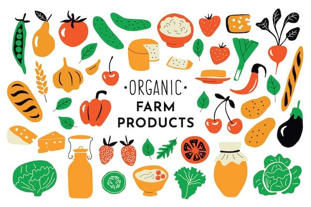Des aliments sains, des produits biologiques.