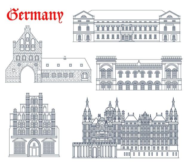 Allemagne, bâtiments historiques, icônes, architecture de l'église cathédrale de mecklenburg vorpommern villes