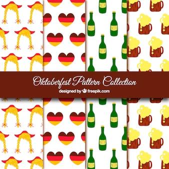 L'allemagne et la collection de modèles oktoberfest
