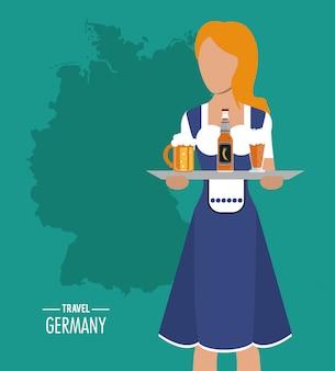 Allemagne. icône de la culture. illustration