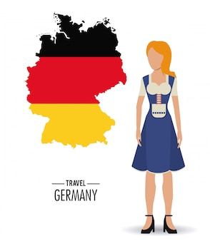 Allemagne. icône de la culture.