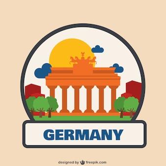 Allemagne logo illustration