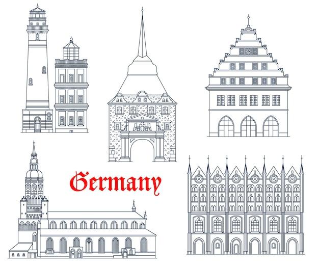 Allemagne monuments l'architecture des bâtiments et les cathédrales du mecklembourg allemand