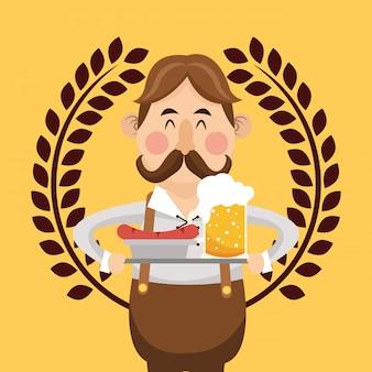 Allemagne oktoberfest bière emblème image