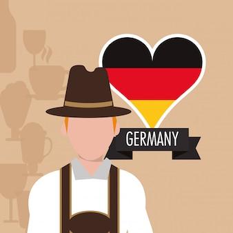 Allemagne oktoberfest bière icônes image