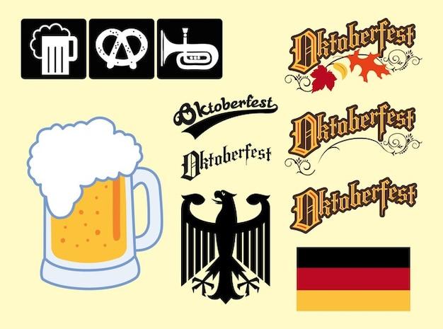 Allemagne oktoberfest graphique vectoriel des éléments