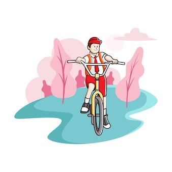 Aller à l'école à vélo