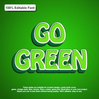 Aller effet de texte vert