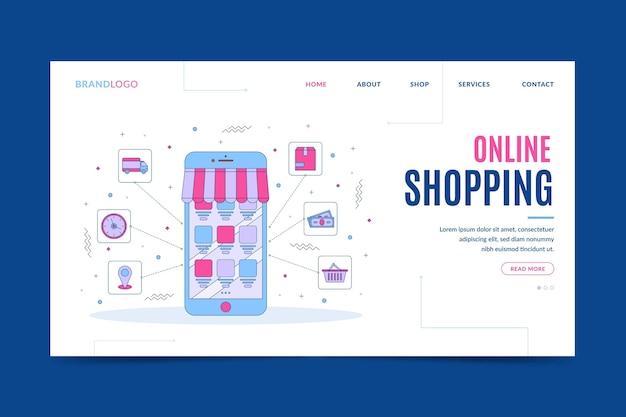 Aller à la page de destination des achats en ligne