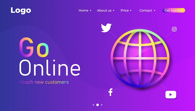 Aller à la page de destination du marketing numérique en ligne