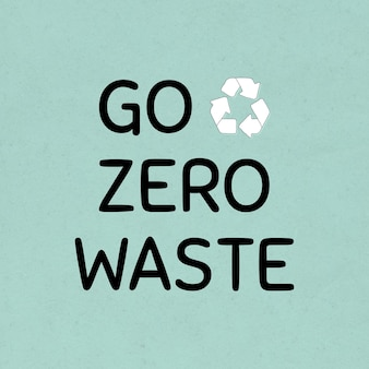 Allez zéro déchet avec l'élément de conception de symbole de recyclage