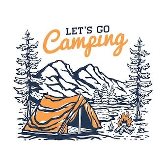Allons camper illustration
