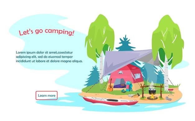 Allons camping page de destination