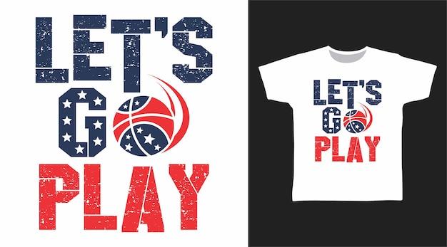 Allons jouer à la typographie pour la conception de t-shirts