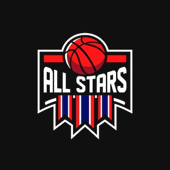 Allstars basketball logo sports