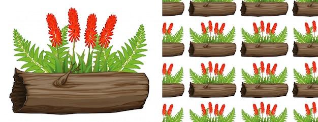 Aloe vera avec des fleurs rouges