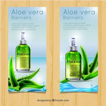 Aloe vera lotion banner