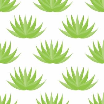 Aloe vera plant seamless pattern