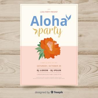 Aloha party banner