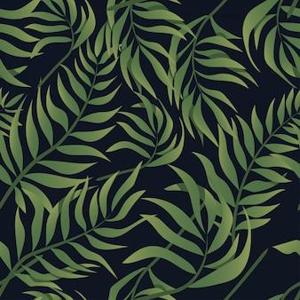 Aloha tropical leaf sans soudure