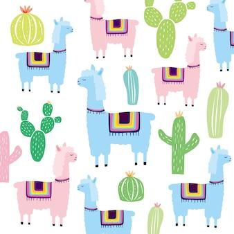 Alpaga, texture enfantine créative.