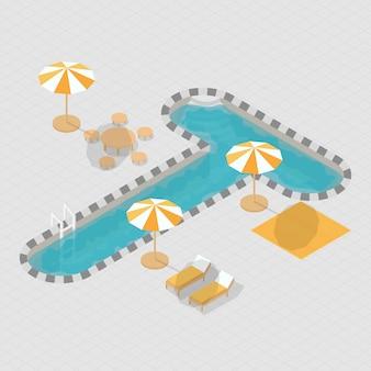 Alphabet 3d isométrique pour piscine t