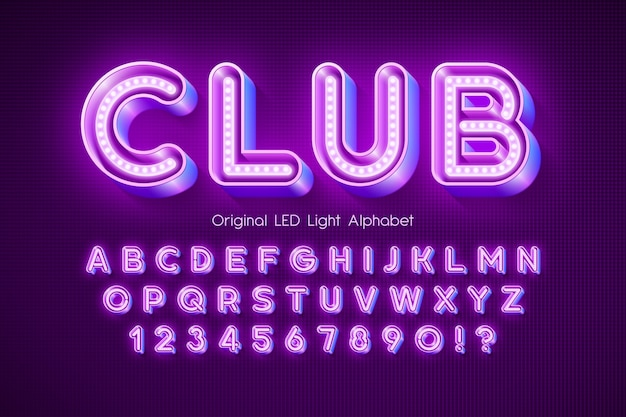 Alphabet 3d de lumière led, très lumineux