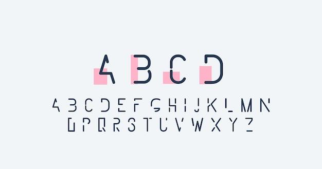 Alphabet abstrait minimal