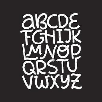 Alphabet anglais de dessin animé