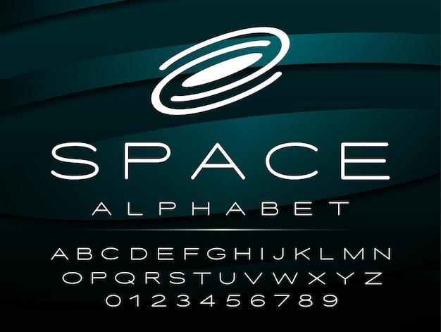 Alphabet anglais, majuscules et chiffres
