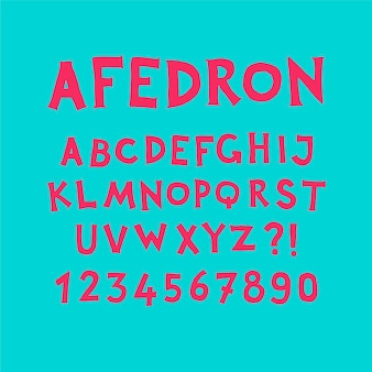 Alphabet anglais.
