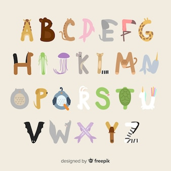 Alphabet animal avec des illustrations adorables