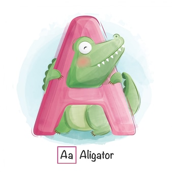 Alphabet animal - a