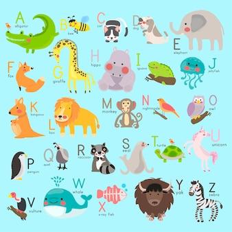 Alphabet avec des animaux