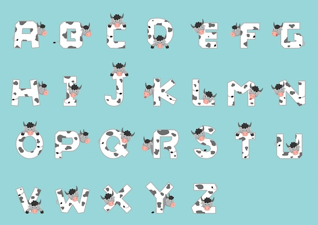 Alphabet az vache