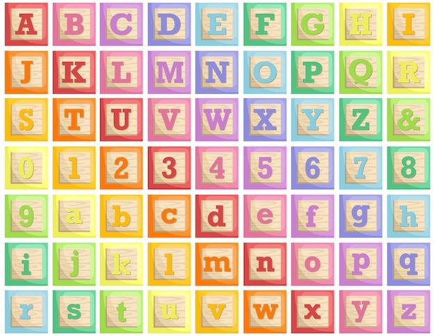 Alphabet blocs