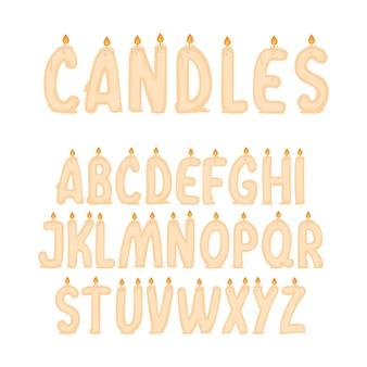 Alphabet bougies mignon
