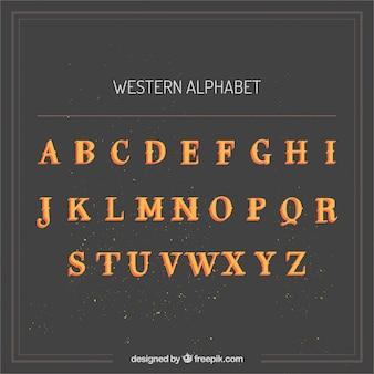 Alphabet chic de l'ouest