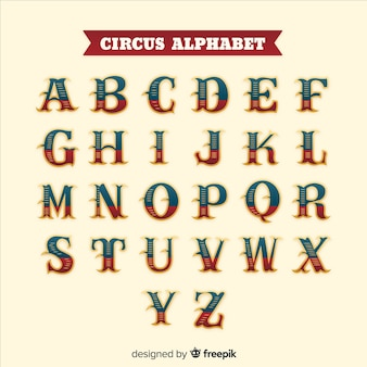 Alphabet de cirque vintage