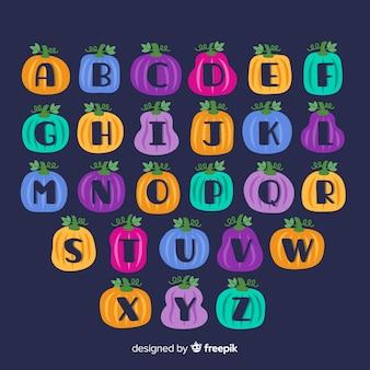 Alphabet citrouille d'halloween