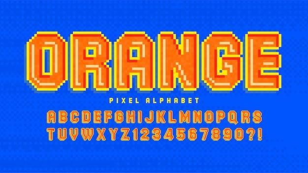 Alphabet coloré 8 bits avec création de logo