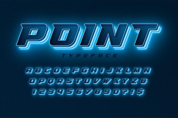 Alphabet coloré avec création de logo