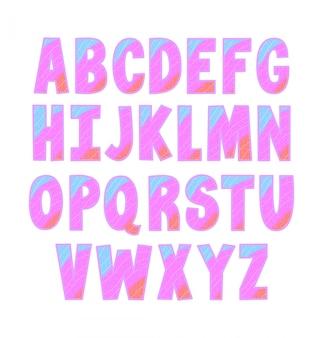 Alphabet coloré mignon