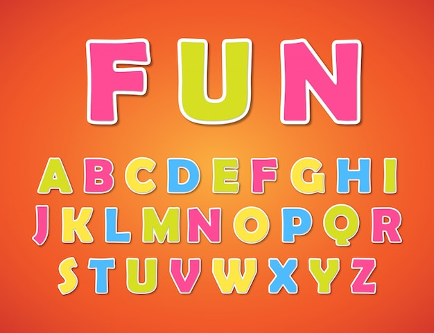 Alphabet coloré pour les enfants