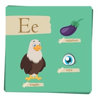 Alphabet coloré pour les enfants - Lettre E