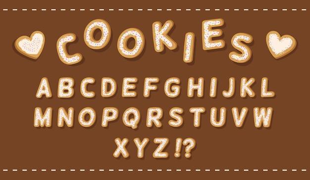 Alphabet de cookies confettis cookies sous forme de lettres